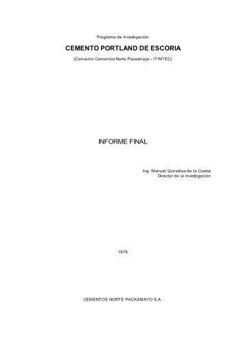 CEMENTO PORTLAND DE ESCORIA INFORME FINAL - Asocem