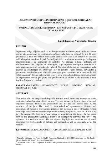 1789 julgamento moral, incriminação e decisão ... - publicaDireito