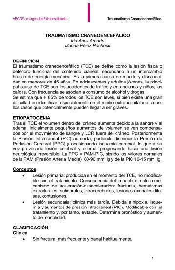 TRAUMATISMO CRANEOENCEFÁLICO Iria Arias Amorín Marina ...