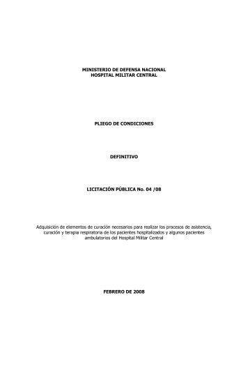 Pliego definitivo curacion - Portal Único de Contratación
