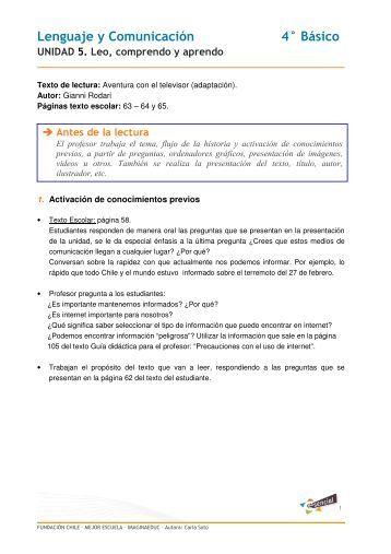 Lenguaje y Comunicación 4° Básico - Educarchile