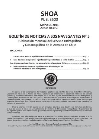 BOLETÍN DE NOTICIAS A LOS NAVEGANTES Nº 5 - Shoa