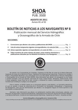 BOLETÍN DE NOTICIAS A LOS NAVEGANTES Nº 8 - Shoa