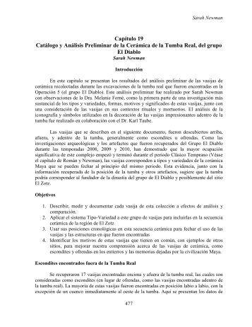 Capítulo 19 Catálogo y Análisis Preliminar de la ... - Mesoweb