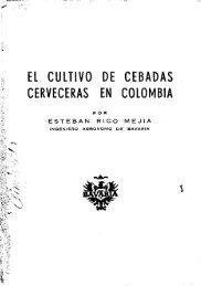 el cultivo de cebadas cerveceras en colombia - Corpoica