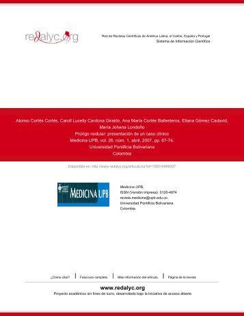Redalyc.Prúrigo nodular: presentación de un caso clínico