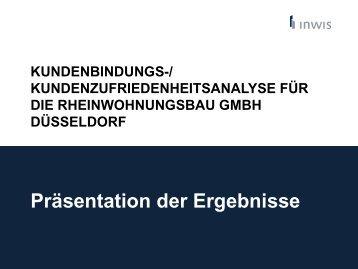 Kundenzufriedenheitsanalyse 2012 - Rheinwohnungsbau