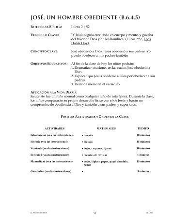 JOSE UN HOMBRE OBEDIENTE (B.6.4.5)