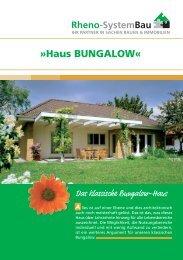 Haus BUNGALOW - Rheno-SystemBau GmbH