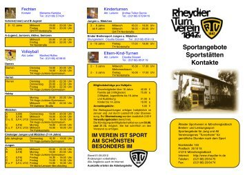 Flyer als PDF Datei - beim Rheydter TV