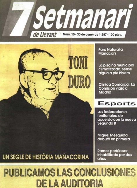 UN SEGLE DE HISTORIA MAilACORINA Espcorts - Biblioteca ...