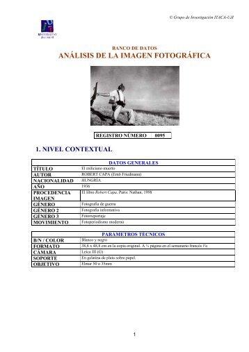 Robert Capa. - Análisis de fotografía