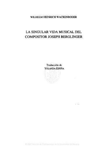 la singular vida musical del compositor joseph berglinger