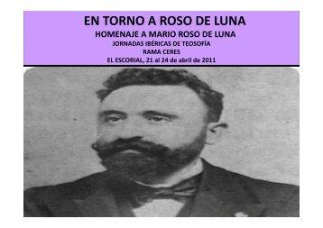 EN TORNO A ROSO DE LUNA - Sociedad Teosófica Española