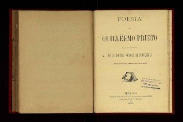 Poesia Guillermo Prieto. - cdigital