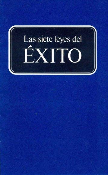 Siete Leyes del Exito (Prelim 1982).pdf - Herbert W. Armstrong ...
