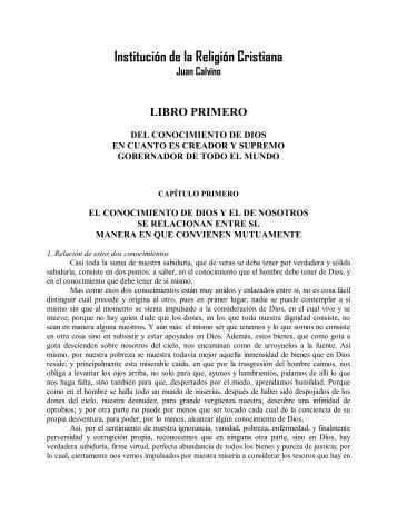 Calvino – Institución de la religión cristiana (Libro I)