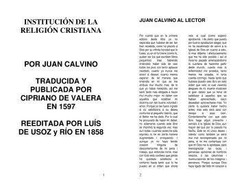 institución de la religión cristiana por juan calvino traducida y ...