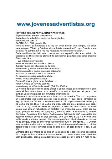 HISTORIA DE LOS PATRIARCAS Y PROFETAS ... - Iasdsanjudas.com