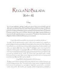 REGLA NO BULADA [Rnb=1 R] - Franciscanos TOR