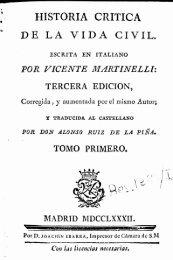 Historia critica de la vida civil / escrita en italiano por Vicente ...