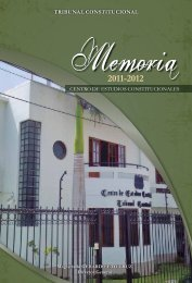 Memoria 2011-2012 - Centro de Estudios Constitucionales del ...