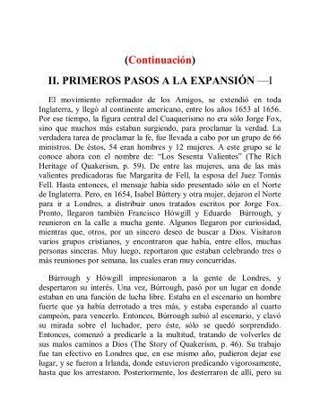 II. PRIMEROS PASOS A LA EXPANSIÓN - Instituto ALMA