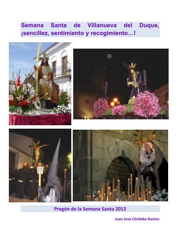 Pregón de la Semana Santa 2012 - Villanueva del Duque