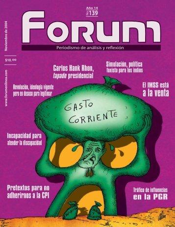 FORUM 139 -RESPALDO-.indd - Forum en Línea