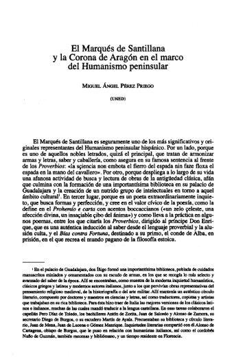 El Marqués de Santillana y la Corona de Aragón ... - e-Spacio - Uned