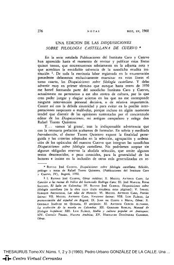 Disquisiciones sobre filología castellana - Centro Virtual Cervantes