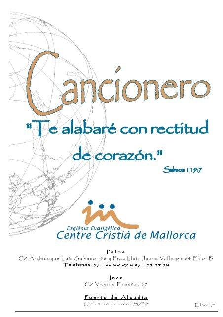 Cancionero Iglesia Evangélica Centre Cristià De Mallorca