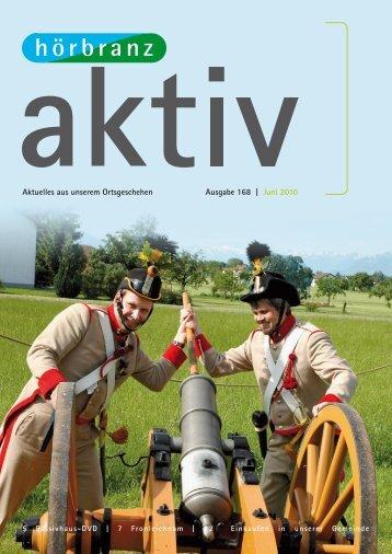 Aktuelles aus unserem Ortsgeschehen Ausgabe 168 | Juni 2010