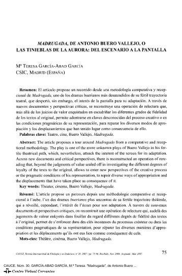 Madrugada - Centro Virtual Cervantes