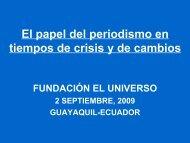 EL PERIODISMO EN TIEMPOS DE CRISIS..pdf - Fundación EL ...
