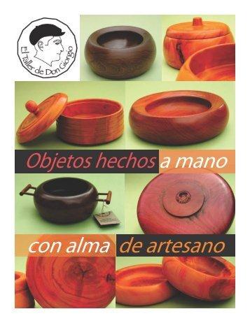 Objetos hechos a mano con alma de artesano