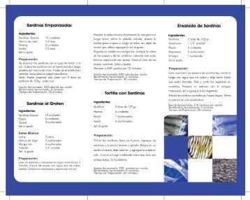 Sardinas Empanizadas - Instituto Nacional de Nutrición