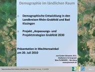 """""""demographischer Wandel""""? - Landkreis Bad Kissingen"""