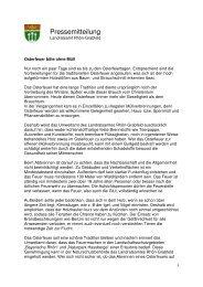 Osterfeuer bitte ohne Müll - Landkreis Rhön-Grabfeld