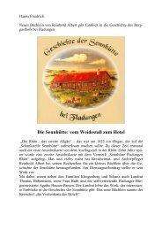 Die Sennhütte: vom Weidestall zum Hotel - Landkreis Rhön-Grabfeld