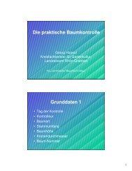 Vortrag Baumkontrolle von Georg Hansul - Landkreis Rhön-Grabfeld