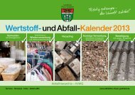 Wertstoff-und Abfall-Kalender 2013 - Landkreis Rhön-Grabfeld