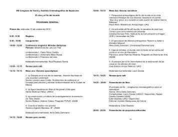 programa general congreso sepancine 2012