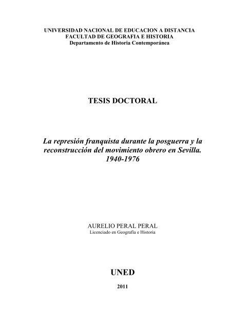 Tesis Doctoral La Represión Franquista E Spacio Uned