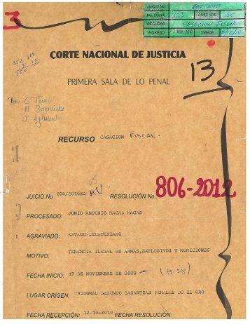r: 2 m c 2 ç) 0 .0 m z > 1' - Corte Nacional de Justicia