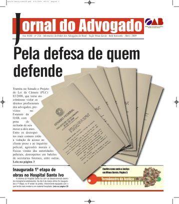 oab256 mar.o:oab256.qxd.qxd - Ordem dos Advogados do Brasil