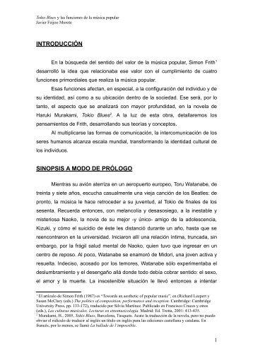 LAS FUNCIONES SOCIALES DE LA MÚSICA - Hermeneia