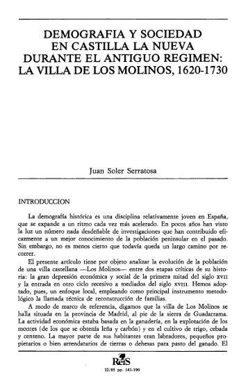 Demografía y sociedad en Castilla la Nueva durante el Antiguo ...