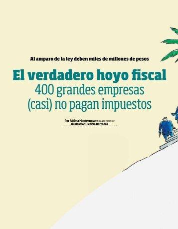 El verdadero hoyo fiscal 400 grandes empresas (casi) no pagan impuestos