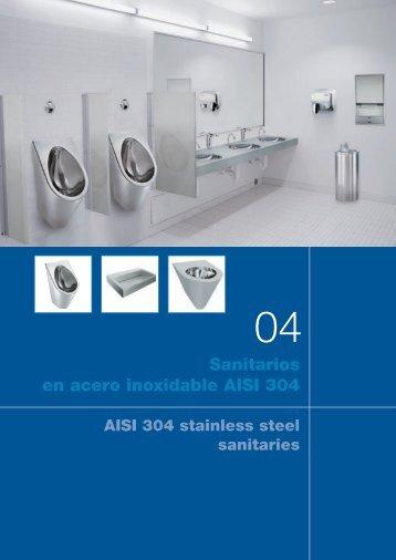Sanitarios en acero inoxidable AISI 304 - Nofer